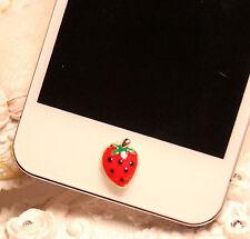 Home Button Sticker For iPhone 6SPlus 6S 6 6plus 5 5S 5C 4 4S Strawberry