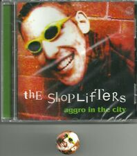 SHOPLIFTERS-AGGRO IN THE CITY CD(FIT FOR THE BIN)SEALED+BADGE