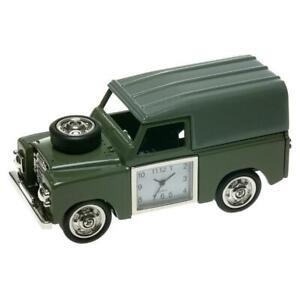 Miniatura a Quattro Ruote Guida 4-X-4 Verde Novità Desktop Collectors Clock 0475