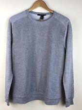 Mens FOREVER21 Medium Gray Longsleeves Crewneck Sweatshirt Banded Texture