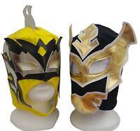 WWE Black Sin Cara & Yellow Kalisto Wrestling Masks Pair Lucha Dragons