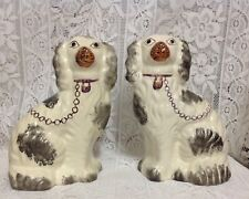 Staffordshire Antique Spaniel Mantel Fireplace Dogs