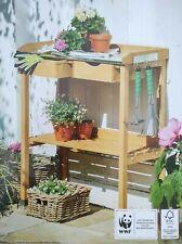 Gartenarbeitstisch Massivholz Schubladen Beistelltisch Blumen-Pflanztisch
