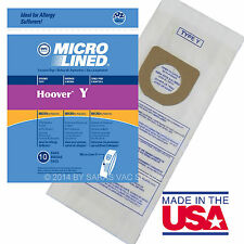 Hoover Vacuum Bags Type Y for Windtunnel Upright Microlined Bag 10 Pack