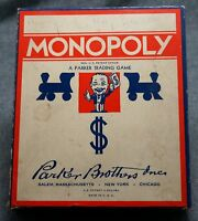 Vintage 1941-1946 Parker Brothers MONOPOLY - NEAR MINT - NO BOARD