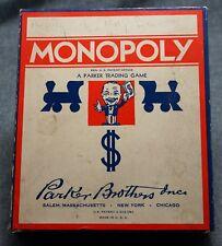 Vintage 1941-1946 Parker Brothers MONOPOLY - NEAR MINT - NO BOARD