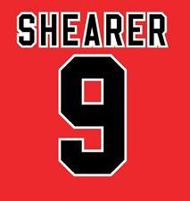 No 9 Shearer Blackburn Rovers Away 1995-1996 Football Nameset for shirt