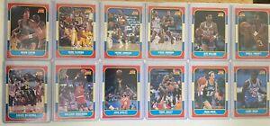 1986-87 Fleer (12) Basketball Card Lot No Dupes All Rookies RC + Top Loaders JA