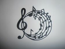 circular musical notes and treble clef die cuts