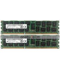 16GB 2x8GB 2RX4 PC3-12800R DDR3-1600 Registered RDIMM Fr HP ProLiant DL380p Gen8