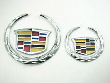 Chrome XTS CTS Escalade Front Grille Rear Trunk Emblem Crest Logo for Cadillac