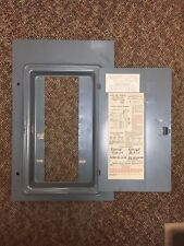 FPE FEDERAL PACIFIC CAT NO 1008-44 100A FUSE PANEL DEADFRONT COVER  AND DOOR