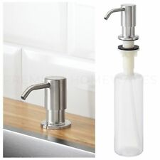 IKEA KNIPEN Stainless Steel Integrated Sink-Mounted Soap-Pump Dispenser UK-N786