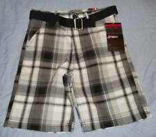New South Pole youth boys adjustable waistband shorts with belt size 6