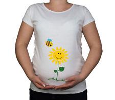 Magliette a manica corta in cotone bianco per la maternità