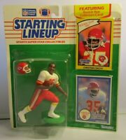 1990  CHRISTIAN OKOYE Starting Lineup (SLU) Football Figure & 2 Cards - CHIEFS