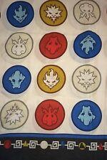 Power Rangers MMPR Full Sheet Flat Bedding 2012 Fire Lightning Circles Ice Gold