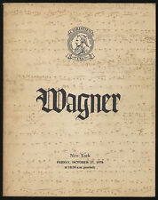 Richard Wagner Collection Formed by the Honourable Mrs Mary Burrell