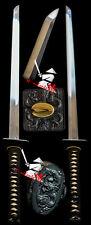 NEW RAZOR SHARP 9260 SPRING STEEL BLAD JAPANESE NINJA KATANA DRAGON TSUBA SWORD