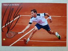 Pablo Carreno-Busta Signed Autographed 4x6 Photo Tennis