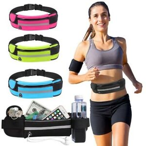 Running Belt Unisex Sports Jogging Phone Keys Mobile Money Bum Bag Waist Travel