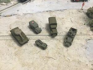 N Scale WW 2 era military army Vehicle sampler unpainted 3D prints