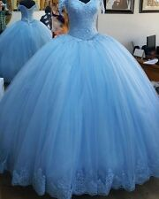 2017 Quinceanera Dresses Appliques Lace Corset Bodice Prom Gowns Sweet 16 Dress