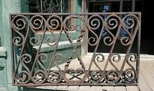 Antique Wrought Iron Window Grate - Iron Fence (2)