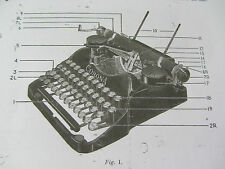 *CORONA 4* PORTABLE TYPEWRITER-PHOTOCOPY OF A WELL THUMBED INSTRUCTION BOOKLET