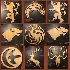 GAME OF THRONES - Specialty WOOD - Wall Art -Craft House Banners Lannister Stark