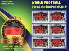 Liberia 2014 MNH Germany Road to Victory World Football Championship 42v on 7 MS