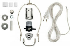 Lamp Kit for Liquor Bottles - Includes All Adapters and Parts - Silver Finish