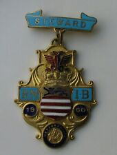 STEWARD ROYAL MASONIC INSTITUTE FOR BOYS ENAMEL PIN BADGE 1960 BEDFORDSHIRE