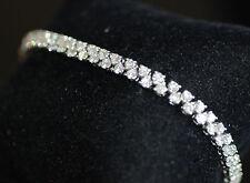 "Estate Fancy 6.7ct Natural Diamond Double Row Tennis Bracelet W. Gold 18k 7.25"""