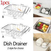 Sink Kitchen Drainer Folding Dish Drainer Drying Rack of Stainless Steel