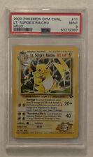 Pokemon LT. SURGE'S RAICHU Holo Gym Challenge PSA 9 MINT 11/132 2000 Low Pop!