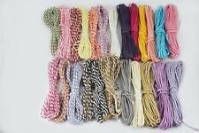 Lot24 Paper Raffia Cord Ribbon Gift Wrap Packing MultiColor Solid Stripe,7YD/ea