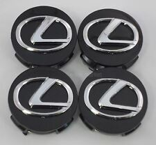 4x Lexus GS IS ES RX SC HS 250 250C 250H 300 330 350 350C 430 Black Center Caps