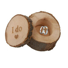 "Personalized ""I Do"" Rustic Ring Bearer Box Wooden Wedding Ring Box Pillow Box"