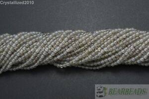 Natural Gemstones 2mm & 3mm Round Ball Spacer Beads 15.5'' Jewelry Design Crafts