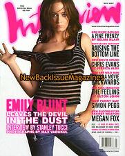 Interview 5/07,Emily Blunt,Megan Fox,Jessica Alba,Simon Pegg,Chris Evans,NEW