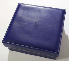 BLUE SQUARE STORAGE BOX LIFT LID FAUX LEATHER ORGANIZATION FUNCTION DESIGN & Leather Décor Storage Boxes | eBay