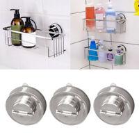 Stainless Bathroom Sucker Shelf Shower Caddy Storage Holder Rack-Organizer-