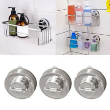 Stainless Steel Bathroom Sucker Shelf Shower Caddy Storage Holder Rack Organizer