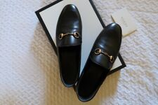 Brand New Gucci Loafers Black Leather Women's 38.5EU 8.5US