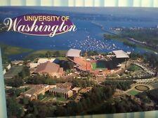 aerial view PHOTO POST CARD UNIVERSITY OF WASHINGTON SEATTLE WASHINGTON