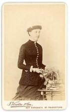 Lady on cdv by J Weston & Son of Folkestone