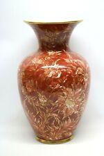 Große Vase mit Blumen Handbemalt Signiert Bauer