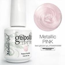 15ml Mabel's Gel Nail Art Soak Off Color UV Gel Polish UV Lamp - Metallic Pink