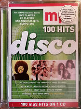 DISCO - 100 mp3 Hits - grünes Cover - CD in DVD Klapp Case - Neuwertig